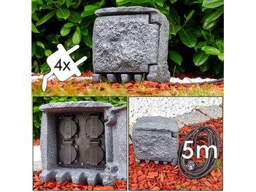 Lieksa Außensteckdose Grau - Basic - Außenbereich - versandfertig innerhalb von 1-2 Werktagen