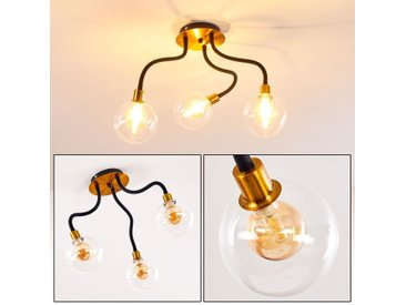 Hovslund Deckenleuchte LED Schwarz, Gold, 3-flammig - Vintage/Antik - Innenbereich - versandfertig innerhalb von 2-4 Werktagen