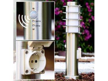 Tunes Sockelleuchte Edelstahl, 1-flammig, Bewegungsmelder - Design - Außenbereich - versandfertig innerhalb von 1-2 Werktagen