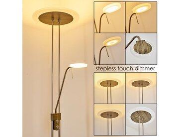 Ligona Deckenfluter LED Nickel-Matt, Holz dunkel, 2-flammig - Modern/Design - Innenbereich - versandfertig innerhalb von 1-2 Werktagen