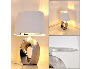 Rovio Tischleuchte Silber, 1-flammig - Modern/Design/Loft - Innenbereich - versandfertig innerhalb von 2-4 Werktagen