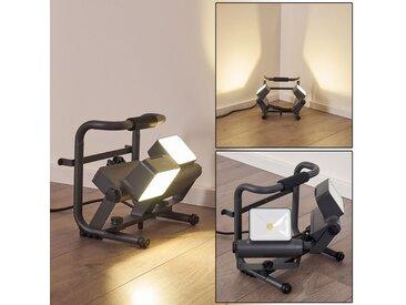 Dyndved Außenstrahler LED Grau, 2-flammig - Zeitlos - Außenbereich - versandfertig innerhalb von 1-2 Werktagen