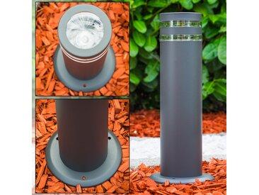 Sockelleuchte Focus Anthrazit, 1-flammig - Modern - Außenbereich - versandfertig innerhalb von 1-2 Werktagen