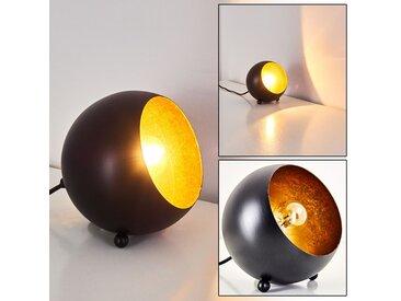 Hajo Tischleuchte Schwarz-Gold, 1-flammig - Design/Zeitlos - Innenbereich - versandfertig innerhalb von 1-2 Werktagen