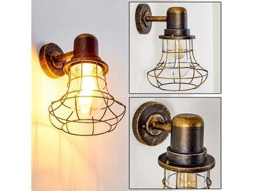 Borkan Aussenwandleuchte Braun, Gold, 1-flammig - Modern - Außenbereich - versandfertig innerhalb von 1-2 Werktagen