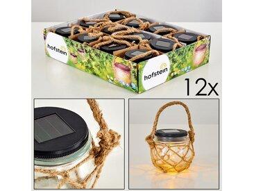 Maastricht Solarleuchte 12er-Set LED Schwarz, 1-flammig - Fun - Außenbereich - versandfertig innerhalb von 1-2 Werktagen