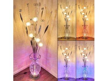 Holar Stehleuchte LED Chrom, 6-flammig, Farbwechsler - Modern - Innenbereich - versandfertig innerhalb von 1-2 Werktagen