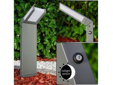 Kiskelund Sockelleuchte LED Anthrazit, 1-flammig, Bewegungsmelder - Modern - Außenbereich - versandfertig innerhalb von 1-2 Werktagen
