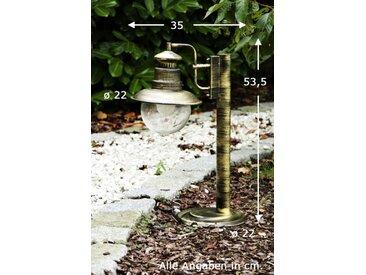 Außensockelleuchte FOX Messing, Schwarz, Gold, 1-flammig - Modern/Design/Landhaus - Außenbereich - versandfertig innerhalb von 2-3 Wochen