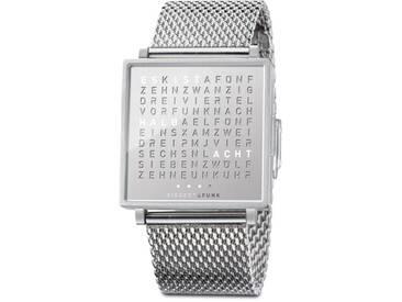 Biegert&Funk - Qlocktwo Fine Steel - Armbanduhr