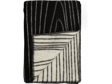 Roros Tweed - Skog Decke - black-natural