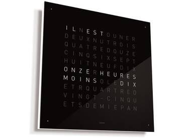 Biegert&Funk - Qlocktwo Large - französisch - Edelstahl schwarz