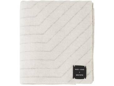 Made By Hand - PINSTRIPE THROW Decke - white