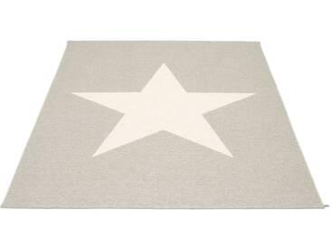 Pappelina - Viggo Star Teppich - stein metallic - 180 x 230 cm