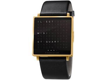 Biegert&Funk - Qlocktwo W - Armbanduhr - französisch - gold matt - L