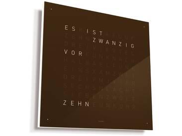 Biegert&Funk - Qlocktwo Classic- deutsch - braun