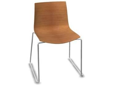 Arper - Catifa 46 Stuhl mit Kufen - Eiche natur