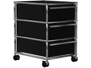 USM Haller - Rollcontainer mit 3 Schubladen - schwarz