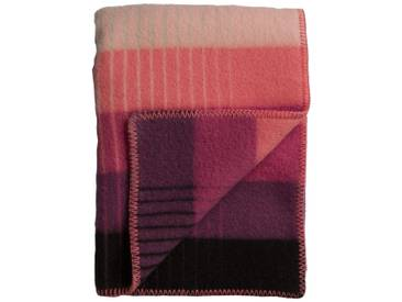 Roros Tweed - Asmund Gradient Decke - pink-green