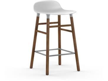 Normann Copenhagen - Form Barstuhl Holzgestell/Metallverstrebung - 65 cm - weiß - Walnuss