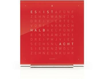 Biegert&Funk - Qlocktwo touch - deutsch - Wecker - rot