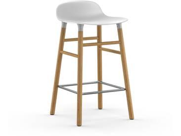 Normann Copenhagen - Form Barstuhl Holzgestell/Metallverstrebung - 65 cm - weiß - Eiche