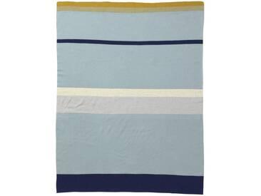 ferm LIVING - Little Stripy Decke - blau