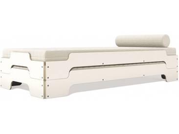 Müller Möbelwerkstätten - Stapelliege Komfort - reinweiß 90x200