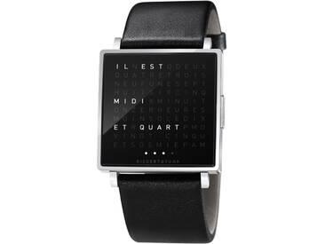 Biegert&Funk - Qlocktwo W - Armbanduhr - französisch - Edelstahl hochgänzend - S