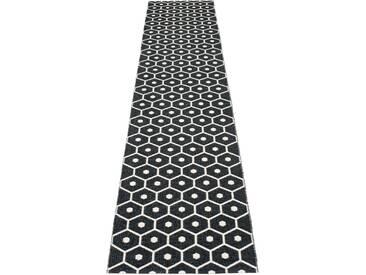 Pappelina - Honey Teppich - schwarz - 70 x 350 cm