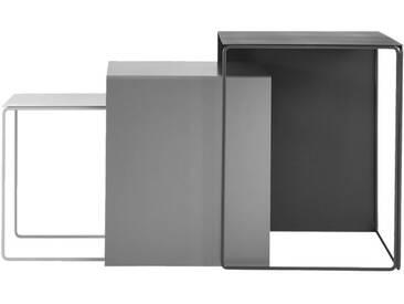 ferm LIVING - Cluster Tische 3er-Set - weiß/grau/schwarz