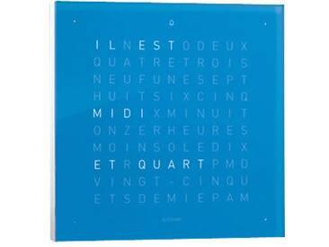 Biegert&Funk - Qlocktwo touch - französisch - Wecker - blau