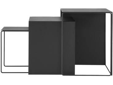ferm LIVING - Cluster Tische 3er-Set - schwarz