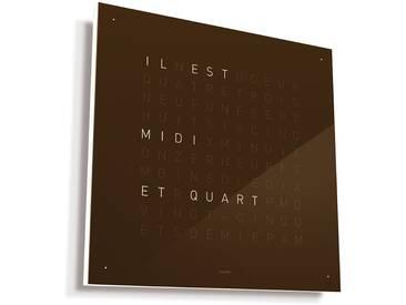 Biegert&Funk - Qlocktwo - französisch - braun