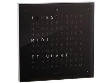 Biegert&Funk - Qlocktwo touch - französisch - Wecker - schwarz