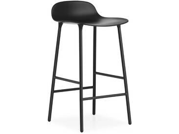 Normann Copenhagen - Form Barstuhl - 65 cm - schwarz