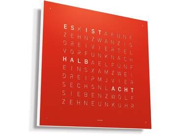Biegert&Funk - Qlocktwo Classic- deutsch - Edelstahl rot