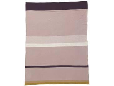 ferm LIVING - Little Stripy Decke - rose