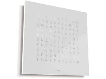 Biegert&Funk - Qlocktwo Large - englisch - Edelstahl weiß