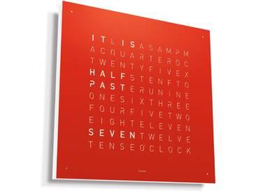 Biegert&Funk - Qlocktwo - englisch - Edelstahl rot