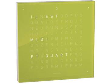 Biegert&Funk - Qlocktwo touch - französisch - Wecker - grün