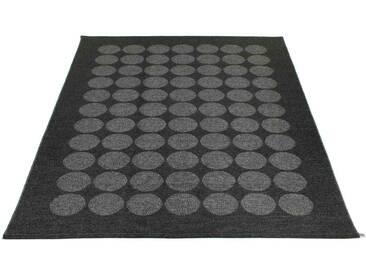 Pappelina - Hugo Wendeteppich - schwarz metallic - 180 x 260 cm