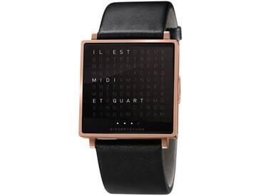Biegert&Funk - Qlocktwo W - Armbanduhr - französisch - roségold matt - L