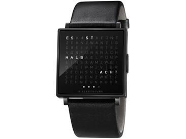 Biegert&Funk - Qlocktwo W - Armbanduhr - deutsch - schwarz - S