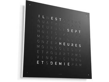 Biegert&Funk - Qlocktwo - französisch - Edelstahl schwarz