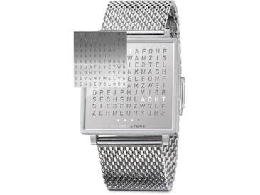 Biegert&Funk - ENGLISCHE Qlocktwo Fine Steel - Armbanduhr