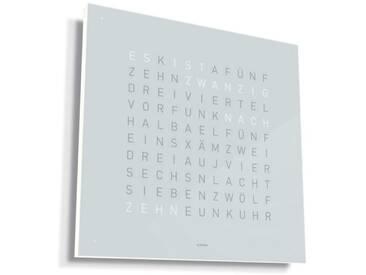 Biegert&Funk - Qlocktwo Classic - deutsch - Edelstahl weiß