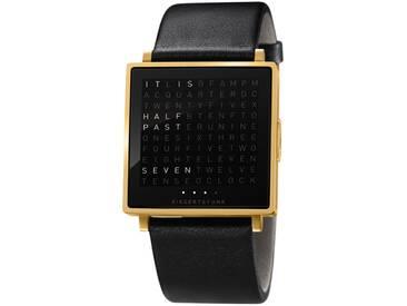 Biegert&Funk - Qlocktwo W - Armbanduhr - englisch - gold matt - L