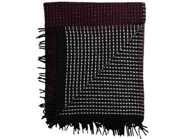 Roros Tweed - Lofoten Decke - burgundy/mint