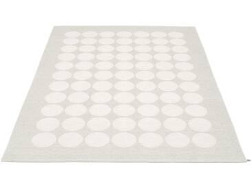 Pappelina - Hugo Wendeteppich - weiß metallic - 180 x 260 cm